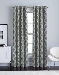 diamond ikat grommet curtain panel curtainworks com