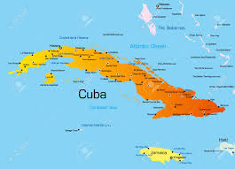Havana On Map Vector Color Map Of Cuba Country Royalty Free Cliparts Vectors