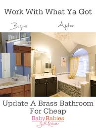 Gold Bathroom Fixtures by Low Budget Brass Bathroom Update U2013 Baby Rabies