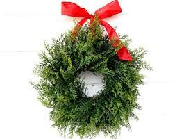 mini boxwood wreath window wreath country cottage
