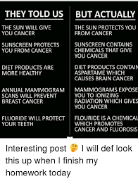 they told us but actually the sun will give the sun protects you