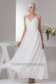 spaghetti wedding dress inspired chiffon beaded spaghetti straps wedding dress