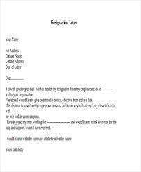 9 nurse resignation letters 10 free word pdf format download