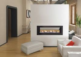 likeness of double sided gas fireplace warmer unique room