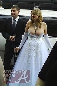 stripper wedding dress