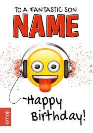 emoji birthday card a fantastic son funky pigeon