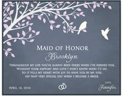 asking of honor poem bridesmaids gifts etsy ca