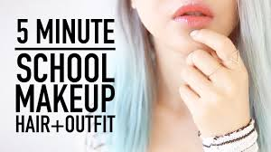 top makeup schools in nyc late for school routine 5 minute makeup hairstyle clothes