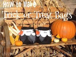 diy halloween trick or treat bag tutorial youtube