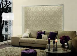 Purple Damask Wallpaper by Traditional Damask Wallpaper In Beige And Blue Design By Bd Wall