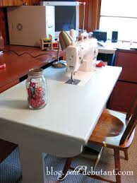 Diy Sewing Desk Petit Design Co Diy Sewing Machine Table