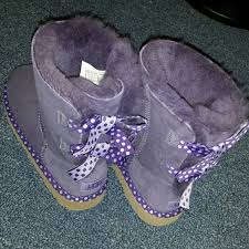light purple bailey bow uggs 39 off ugg shoes authentic bailey bow purple polka dot s poshmark