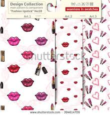 set 3 lipstick makeup sketch vector stock vector 394614709