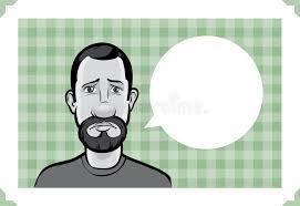 Bearded Guy Meme - greeting card with sad bearded guy stock vector illustration of