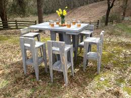 Reclaimed Wood Bistro Table Hand Made Tall Table With Stools Bar Height Bistro Table Reclaimed