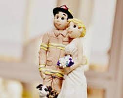 fireman wedding cake toppers fireman cake topper etsy