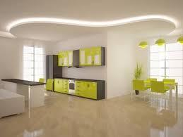 fond blanc en cuisine cuisine verte et grise sur fond blanc éclairée par un ruban led