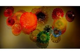Blown Glass Chandeliers 100 Hand Blown Glass Chandelier Light Hotel Decor Big Size Colored