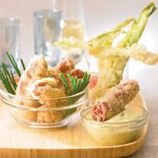 raifort cuisine recette tempura de chipolatas aux cébettes et raifort cuisine