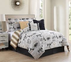 Queen Bedroom Comforter Sets 7 Piece Oh La La Reversible Comforter Set