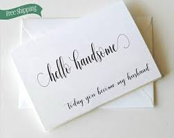 To My Groom On Our Wedding Day Card Groom Card Etsy