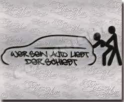 autoaufkleber sprüche tuningsticker auto funaufkleber funsticker wer sein auto liebt