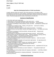 sample resume for daycare worker daycare resume teachers resume example education quickstart