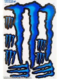 blue monster energy decals stickers supercross bike motocross