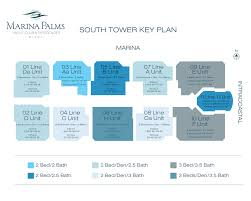 floor plans marina palms marina palms south tower typical key plan