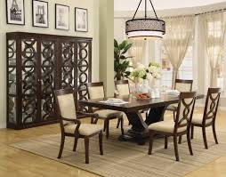 Small Formal Dining Room Sets Small Formal Dining Room Wood Trellis Backrest Round Glass Top