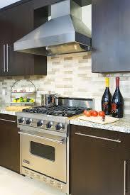 Backsplash With Cherry Cabinets  Dark Grey Granite Counter - Backsplash for cherry cabinets