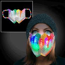 bead mask handmade led rainbow bead mask magic matt s brilliant blinkys