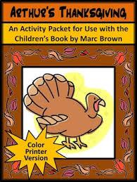 arthur s thanksgiving book thanksgiving reading activities arthur s thanksgiving activity packet