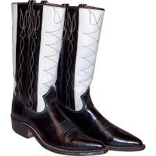 mens black riding boots men u0027s 1940 u0027s johnnie walker black u0026 white cowboy boots from