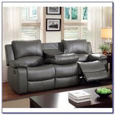 dark grey leather recliner sofa sofas home design ideas