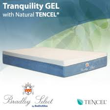 amazon com bed in a box tranquility gel w natural tencel memory