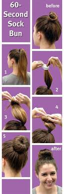 fan and sock bun hair tutorial video dailymotion sock bun hacks tips tricks how to wear hair up in donut sock
