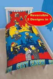 Lego Bedding Set New Lego City Single Duvet Quilt Cover Boys Bedroom