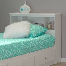 Bookcase Bed Frame South Shore Crystal Twin Bookcase Headboard White Walmart Com