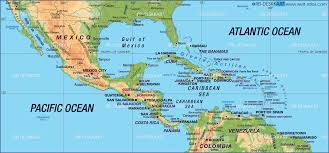 Physical Map Of America by Central America Lessons Tes Teach