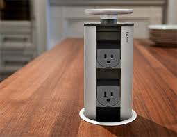 kitchen island power evoline retractable power outlets for kitchen islands for the
