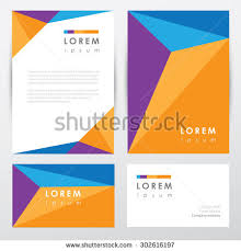 Business Card And Letterhead Corporate Identity Letterhead Business Card Mockup Stock Vector