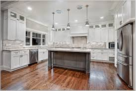 Hanging Kitchen Cabinets Kitchen Natural Wooden Floor Silver Hanging Lamps Absolute Black