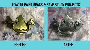 How To Shabby Chic Paint by New Technique How To Paint Brass Hardware For Distressed Metallic
