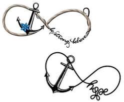 nice couple tattoo of anchor infinity stencil golfian com