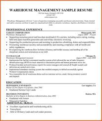 Sample Resume Warehouse Worker by Create My Resume Professional Warehouse Operations Supervisor
