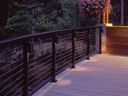 deck railing with designrail led can lights feeney photo gallery