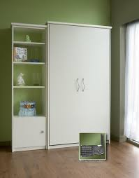 single white melamine murphy bed