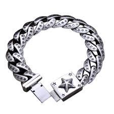 mens bracelet sterling silver images 925 sterling silver bracelet men jewelry pentagram engraved heavy jpg