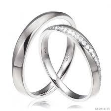 alliance or blanc homme alliances modernes homme et femme or blanc 18cts diamants